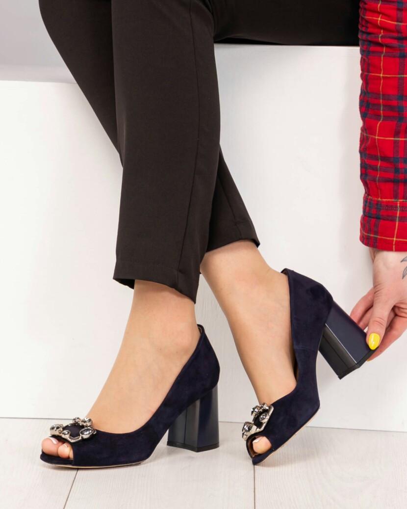 c97b0c9db13 Женские Элитные темно-синие туфли Exclusive Бренд Mario Muzi. Натуральный  итальянский велюр