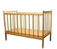 Детская деревянная кровать ольха №1