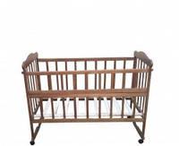 Детская кровать ольха, орехового цвета