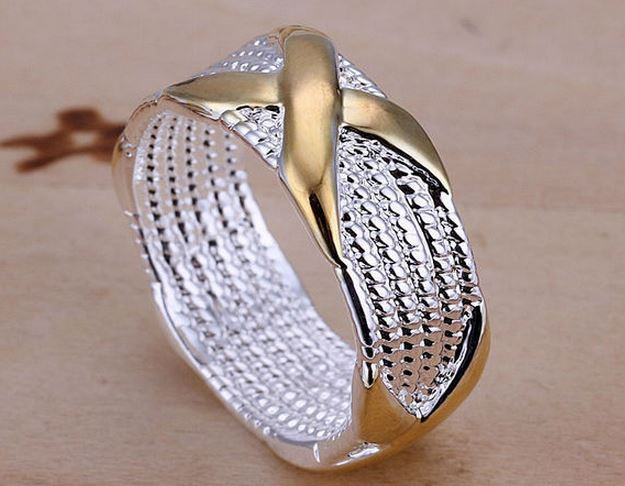 Кольцо женское покрытие стерлинговое серебро код 774