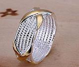 Кольцо женское покрытие стерлинговое серебро код 774, фото 2