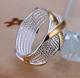 Кольцо женское покрытие стерлинговое серебро код 774, фото 3