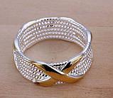 Кольцо женское покрытие стерлинговое серебро код 774, фото 4