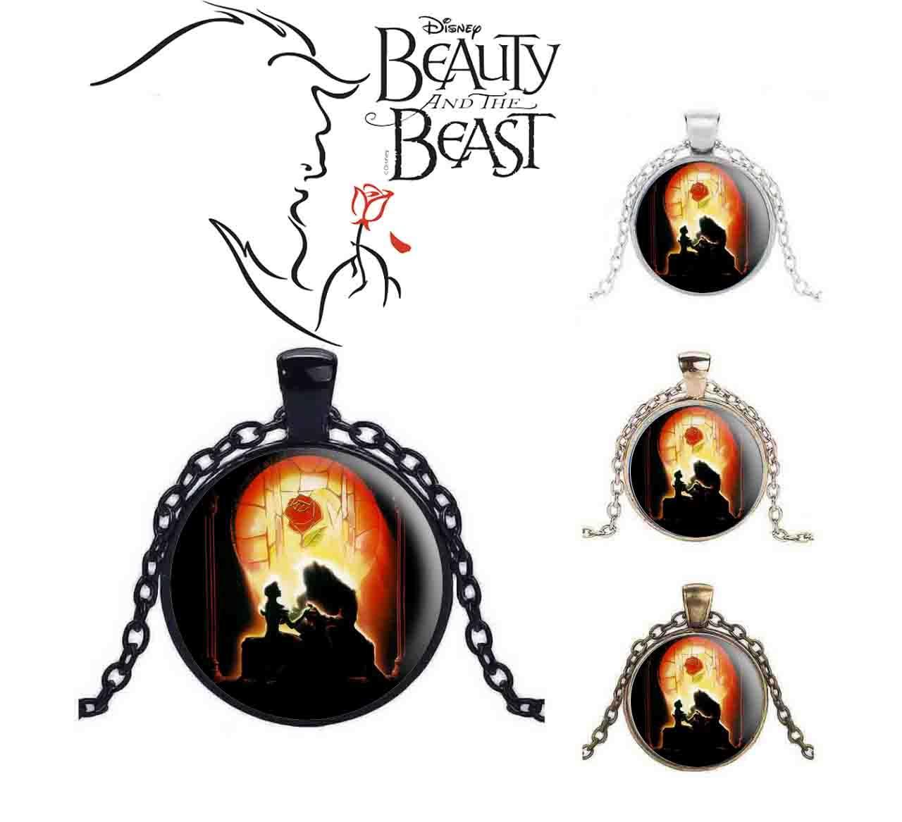 Подвеска Красавица и чудовище/Beauty and the Beast с главными героями