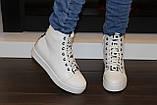 Ботиночки сникерсы белые Love Д428, фото 8