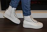 Ботиночки сникерсы белые Love Д428, фото 9