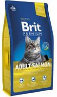 Гипоаллергенный корм для кошек Brit Premium Cat Adult salmon 8 кг