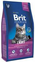 Brit Premium Cat Light Корм Брит Премиум для кошек с избыточным весом  8 кг