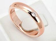 Позолоченное кольцо женское с цирконами код 887, фото 1
