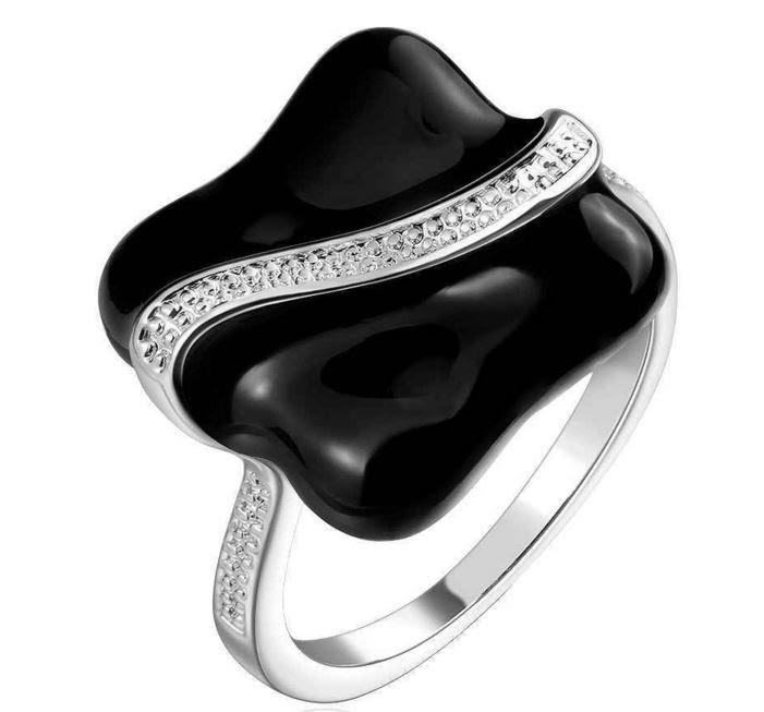 Кольцо женское, покрытое серебром код 914