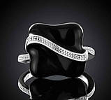 Кольцо женское, покрытое серебром код 914, фото 2