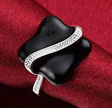 Кольцо женское, покрытое серебром код 914, фото 5