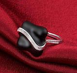 Кольцо женское, покрытое серебром код 914, фото 6