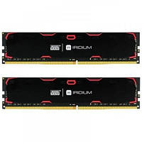 Память GOODRAM 16 GB (2x8GB) DDR4 2400 MHz Iridium Black (IR-2400D464L15S/16GDC)