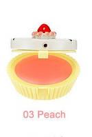 Бальзам-капкейк для губ HOLIKA HOLIKA Dessert Time Lip Balm тон 03 Peach