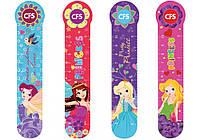 """Закладки для книг CFS CF69101 """"Girl"""" пластиковые, 4 дизайна, 4шт/набор"""
