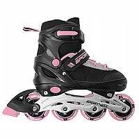 Роликовые коньки SportVida SV-UP0003 Size 34-37 Black/Pink