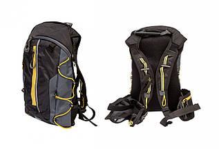 Рюкзак QIJIAN BAGS B-300 44х26х9cm (черно-серо-оранжевый)