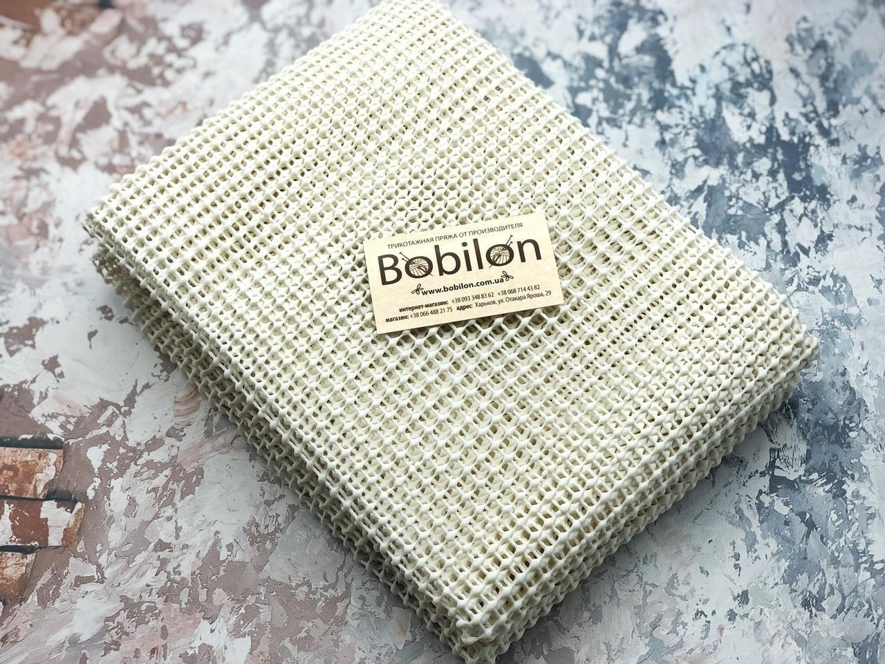 Сетка канва для плетения в ковровой технике из трикотажной пряжи