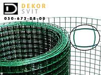 Сварная сетка 50х50 в рулонах с ПВХ 2 м х10 метров, для забора, ограждения