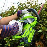 Аккумуляторный кусторез (триммер) Greenworks G40HT61 ( 22332 ) ( Кущоріз акумуляторний Greenworks  ), фото 3