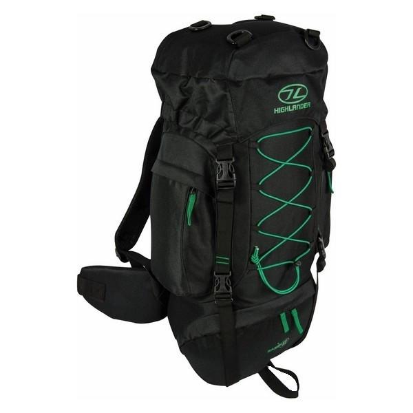 Рюкзак туристический Highlander Rambler 44 Black/Forest Green