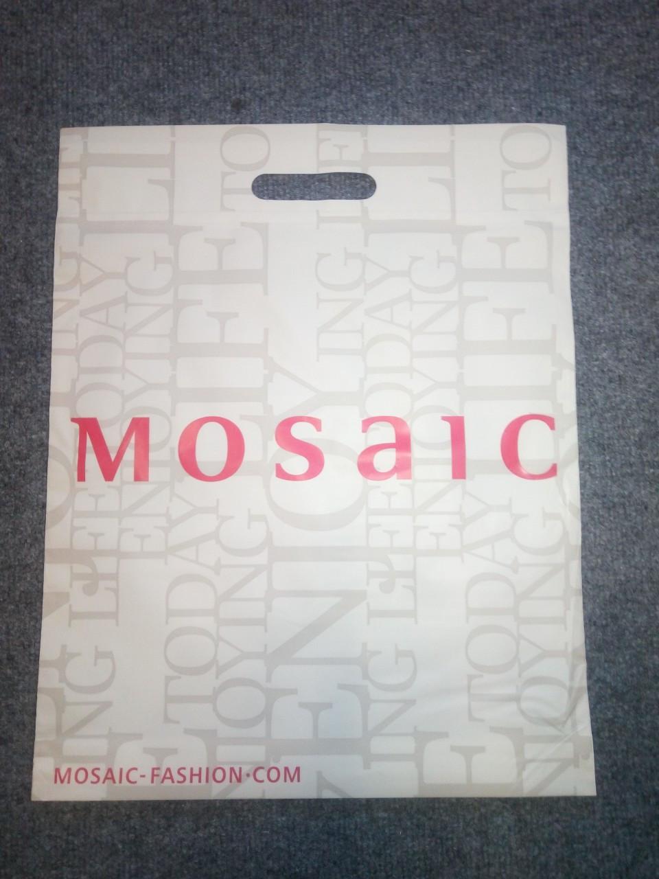 Новые фирменные пакеты Mosaic полиэтиленовые кульки 44,5х35см.