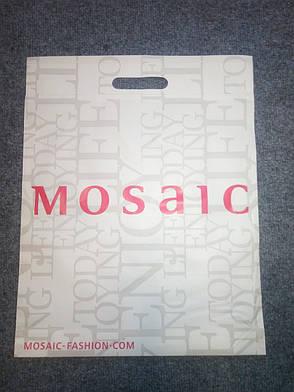 Новые фирменные пакеты Mosaic полиэтиленовые кульки 44,5х35см., фото 2