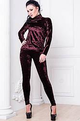 Велюровый костюм  -КИРА- бордовый