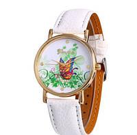 Часы наручные женские Цветная бабочка код 175