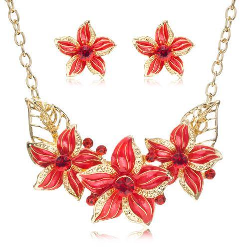 Комплект украшений Цветы код 981