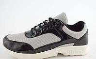 Кроссовки черные серебро Т547, фото 1