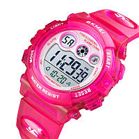 Водонепроницаемые ударопрочные оригинальные детские наручные часы Skmei 1451RR на полиуретановом ремешке