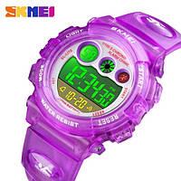 Водонепроницаемые ударопрочные оригинальные детские наручные часы Skmei 1451PL на полиуретановом ремешке