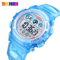 Водонепроницаемые ударопрочные оригинальные детские наручные часы Skmei 1451LB на полиуретановом ремешке