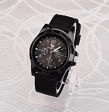 Чоловічий наручний годинник з чорним ремінцем код 199