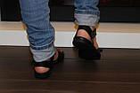Босоножки женские черные на липучке натуральная кожа Б705, фото 6