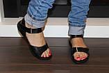 Босоножки женские черные на липучке натуральная кожа Б705, фото 9
