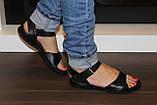 Босоножки женские черные на липучке натуральная кожа Б705, фото 10