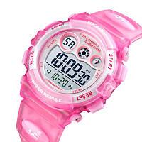 Водонепроницаемые ударопрочные оригинальные детские наручные часы Skmei 1451PK на полиуретановом ремешке