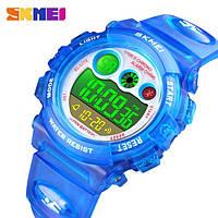 Водонепроницаемые ударопрочные оригинальные детские наручные часы Skmei 1451BL на полиуретановом ремешке