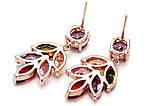 Позолоченные серьги с цветными кристаллами код 181, фото 5