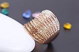 Позолоченное кольцо с кристаллами код 177, фото 3