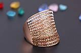 Позолоченное кольцо с кристаллами код 177, фото 4
