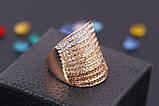 Позолоченное кольцо с кристаллами код 177, фото 5