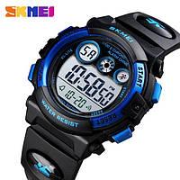 Водонепроницаемые ударопрочные оригинальные детские наручные часы Skmei 1451BB на полиуретановом ремешке