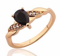Женское позолоченное кольцо с кристаллами код 210