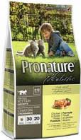Pronature для котят Корм Пронатюр Holistic Kitten с курицей и бататом 5,44 кг