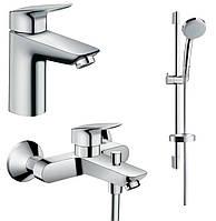 Набор смесителей для ванны Hansgrohe Logis 71100000+71400000+27772000