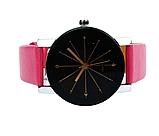 Наручные женские кварцевые часы с розовым ремешком код 153, фото 4